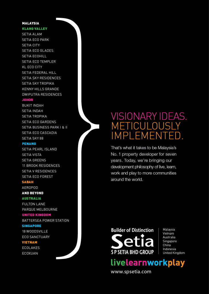 S P Setia Corporate Ad, Advertisement, Portfolio