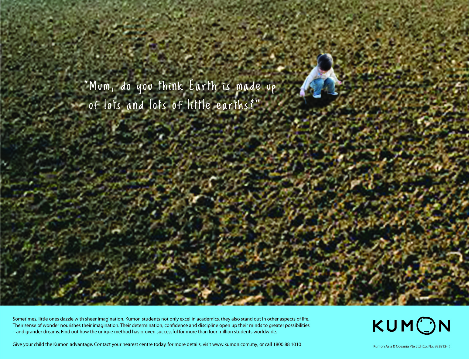 Kumon Thematic Print Advertisement - Earth
